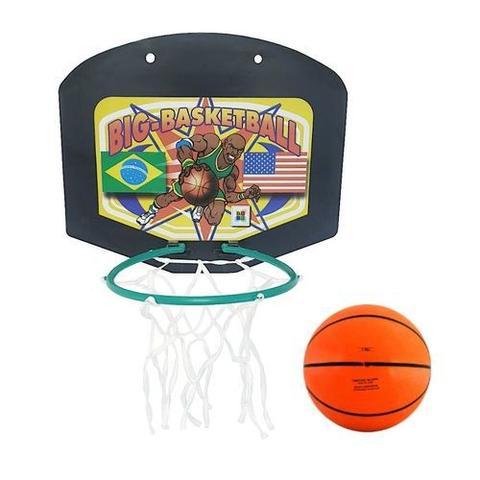 Imagem de Tabela de Basquete Infantil C/ Mini Bola e Rede Basketball 810 Big Boy