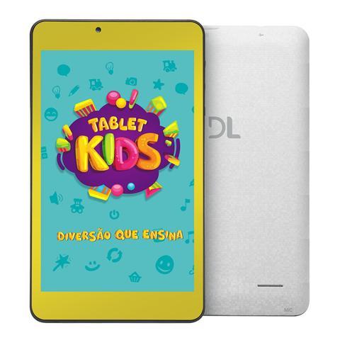 Tablet Dl Kids Tx394 Cinza 8gb Wi-fi