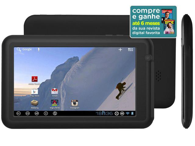 "Imagem de Tablet DL Everest 4GB Tela 7"" Wi-Fi Android 4.0"
