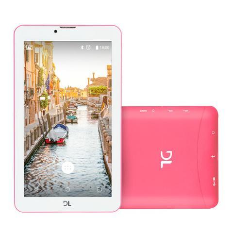 Imagem de Tablet DL Mobi Tab 3G, Tela 7, 8GB, Dual Chip, Função Smartphone, Android 7, Quad Core de 1.3 GHz