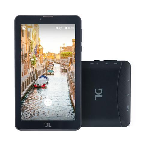 """Imagem de Tablet DL Mobi Tab 3G, Tela 7"""", 8GB, Dual Chip, Função Smartphone, Android 7, Quad Core de 1.3 GHz"""