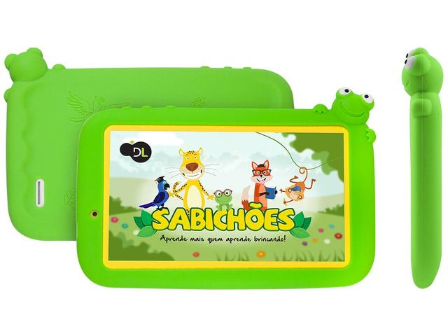 Tablet Dl Sabichões Tx386 Verde 8gb Wi-fi