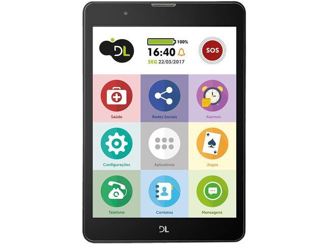 """Imagem de Tablet DL TabFácil 8GB 7,85"""" 3G e Wi-Fi"""