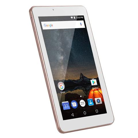 Imagem de Tablet M7S Plus+ Wi-Fi e Bluetooth Quad Core Memória 16GB 7 Pol. Câmera Frontal 1.3MP e Traseira 2.0MP 1GB RAM Android 8.1 Rosa Multilaser - NB300