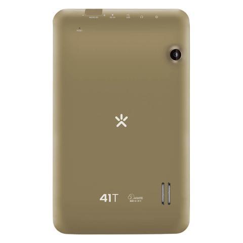 Imagem de Tablet Mirage 41T Quadcore Dual Câmera 2Mp + 1.3Mp Tela 7 Pol. Android 4.4 Dourado - NB250