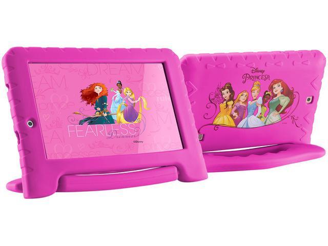 "Imagem de Tablet Multilaser Disney Princesas Plus 8GB 7 """