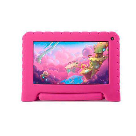 Imagem de Tablet Multilaser Kid Pad Rosa 16gb 1gb Quad Core Nb303