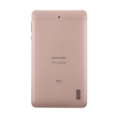 Imagem de Tablet Multilaser M7 3G Plus Dual Chip Quad Core 1 GB de Ram Memória 16 GB Tela 7 Polegadas Rosa - NB305