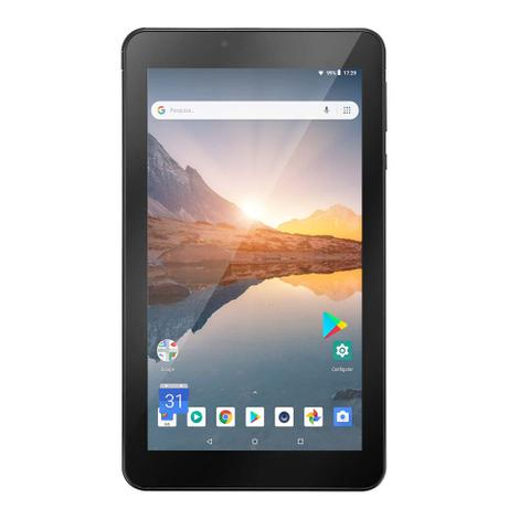 Imagem de Tablet Multilaser M7S Plus Wi-Fi Bluetooth Quad Core 1GB 16GB 7 Pol. Câmera Frontal 1.3MP e Traseira 2.0MP Android 8.1 Preto - NB298