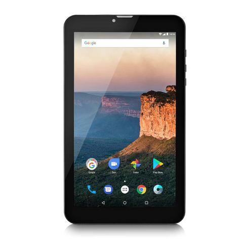Imagem de Tablet Multilaser M9 3G 1GB 8GB 9 Pol. Quad Core Dual Câmera Dual Chip Preto  NB247