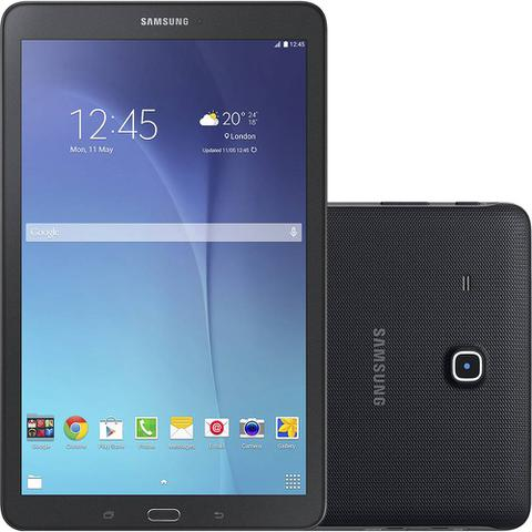 Imagem de Tablet Samsung Galaxy Tab E T560 8GB Wi-Fi Tela 9.6 Android 4.4 Quad-Core Preto