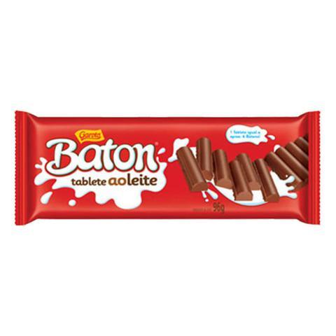 Imagem de Tablete de Chocolate Baton Ao Leite 96g - Garoto