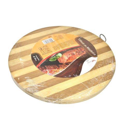 Imagem de Tábua de corte em madeira de Bambu 30cm Ø