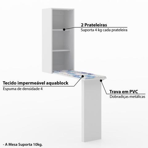 Imagem de Tábua de Passar Retrátil Tecno Mobili - Branco