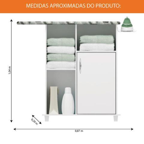 Imagem de Tábua De Passar Roupa Com Gabinete Florence Notável Branco