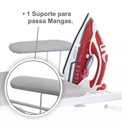 Imagem de Tabua De Passar Roupa Extra Forte C/ Porta Ferro e Passa Manga