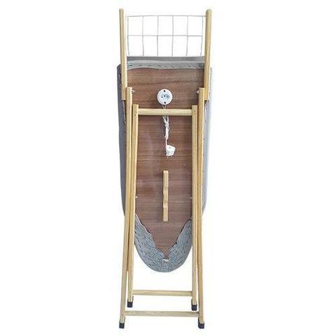 Imagem de Tabua de passar roupas utilyne em 100 madeira com tomada madeira metalizado