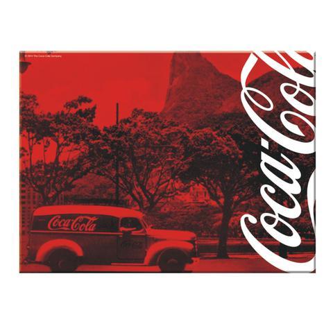 Imagem de Tábua de vidro Coca Cola Landscape Vermelha 30x20 cm