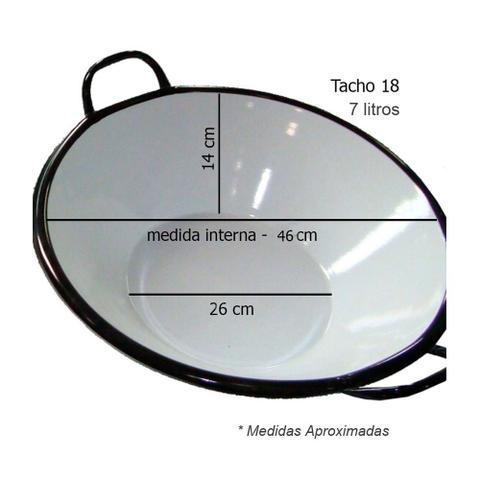 Imagem de Tacho Esmaltado para fritura 18 Marina - 7 litros
