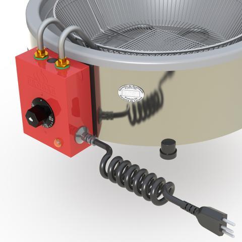 Imagem de Tacho Fritadeira Elétrica Industrial Progas 7Litros Aço Inox 220V