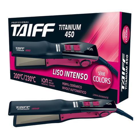 Imagem de Taiff chapa titanium 450 pink serie colors bivolt