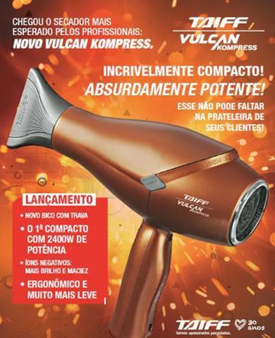 Imagem de Taiff Secador Profissional Vulcan Kompress 2400w