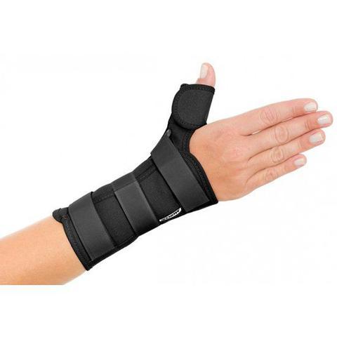 Imagem de Tala para Punho com Polegar Esquerdo Ortopédica Curta Mercur preto G