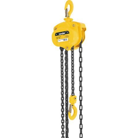Imagem de Talha manual com capacidade de 1000 kg e 3 metros de corrente