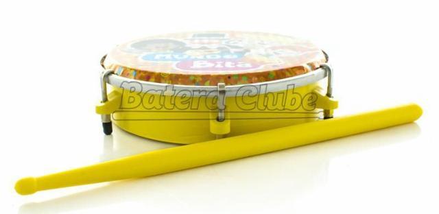 Imagem de Tamborim Luen Mundo Bita 6 em ABS com Baqueta Musicalização Infantil (60047MB/AM)
