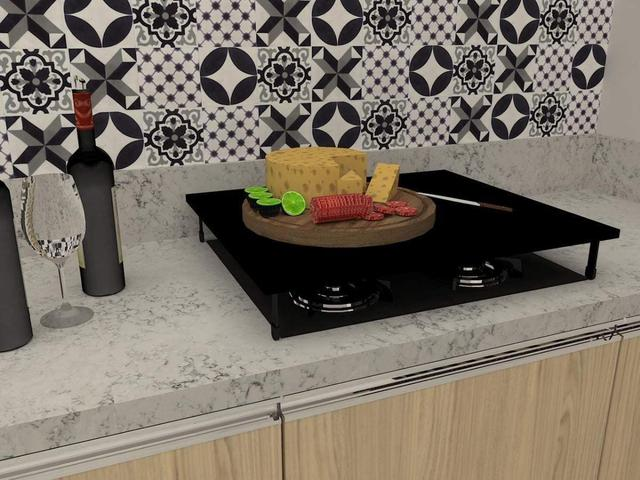 Imagem de Tampa Cooktop Design Inovador 4 Bocas Mdf Dicarlo Até 10 Kg