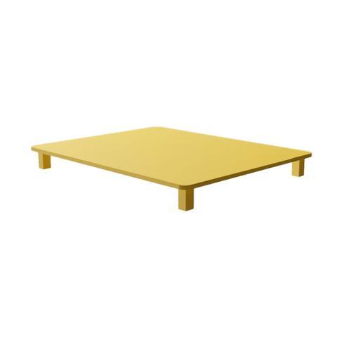 Imagem de Tampa para Cooktop 4 Bocas 58 x 46 cm Built Madeira MDF Laqueado Amarelo