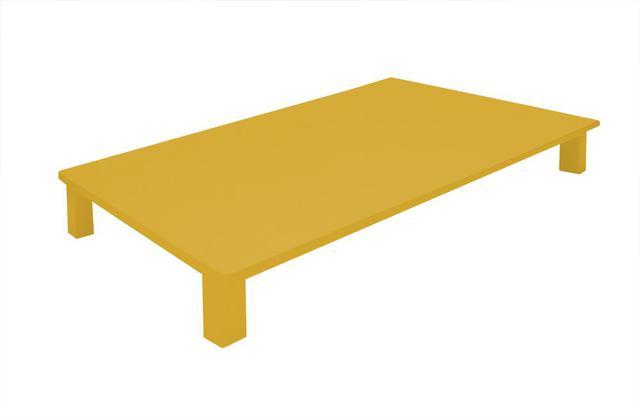 Imagem de Tampa para Cooktop 4 Bocas 75 x 52 cm Parise Madeira MDF Laqueado Amarelo