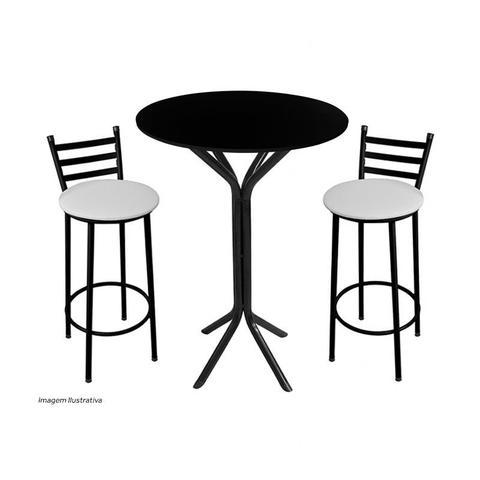 Imagem de Tampo De Mesa De Jantar Em Mdf Redondo 60cm X 15mm Preta