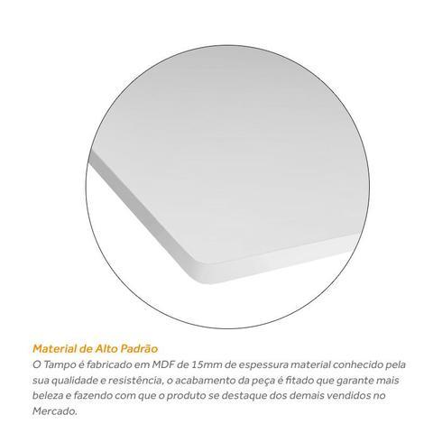 Imagem de Tampo De Mesa Mdf Branco Quadrado 60cm x 60cm x 15mm