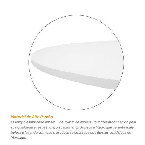 Imagem de Tampo De Mesa Mdf Branco Redondo 80cm X 15mm