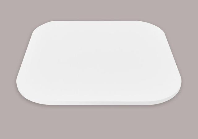 Imagem de Tampo Tábua Prato Giratório para Mesa 70 cm - Branco Laca
