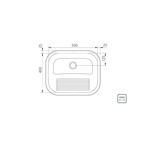 Imagem de Tanque De Encaixe C/ Esfregador 50x40 Acetinado - Tramontina