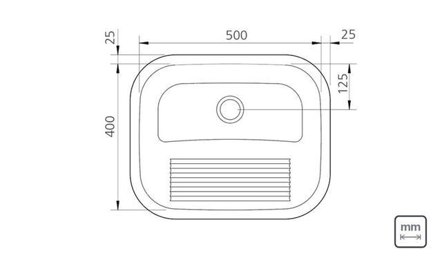 Imagem de Tanque de Encaixe Inox Acetinado 50x40cm Tramontina 94400107