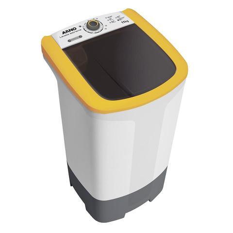 Imagem de Tanquinho / Lavadora de Roupas Semi-Automática Arno 11Kg ML90 Lavete Extreme Branco/Amarelo e Cinza