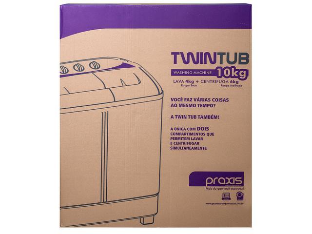 Imagem de Tanquinho Semiautomático Praxis Twin Tub 4,1Kg
