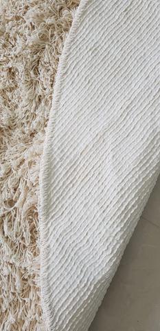 Imagem de Tapete algodão par Sala/Quarto - Redondo - 1,50 x 1,50 - Cor cru  pelo alto