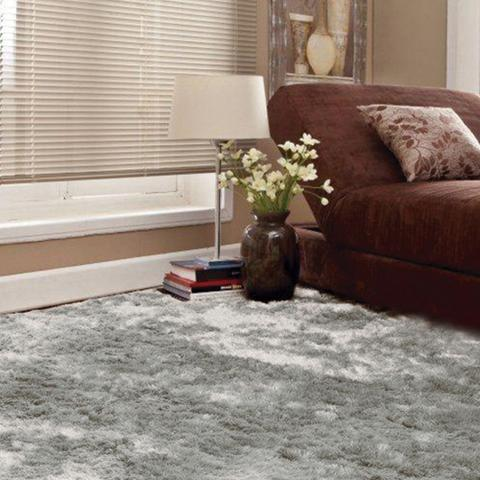 Imagem de Tapete Apolo Prata Textil Retangular 100x150cm Cinza