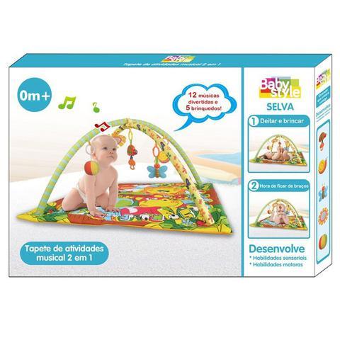 Imagem de Tapete Bebê Atividades Musical 2 em 1 Selva - Verde - Baby Style