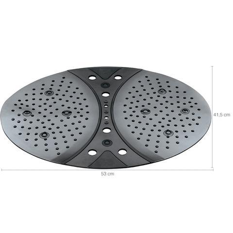 Imagem de Tapete Box Banheiro 42x53cm Antiderrapante Ventosa Hidro Preto