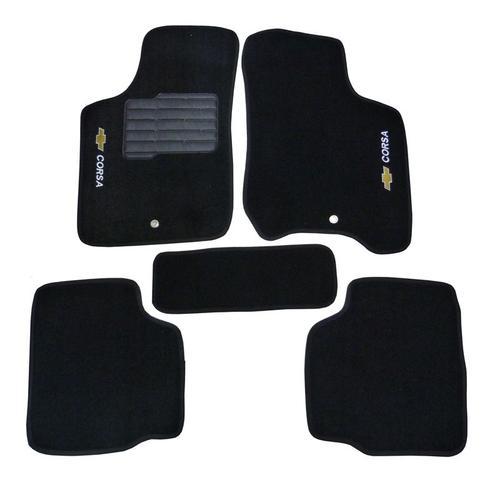 Imagem de Tapete Carpete Chevrolet Corsa Hatch/sedan 2002 A 2015 Preto 5 PeÇas C0403