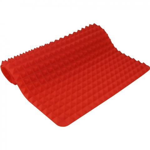 Imagem de Tapete Culinario para Forno em Silicone Antigordura e Antiderrapante Vermelho  Clink