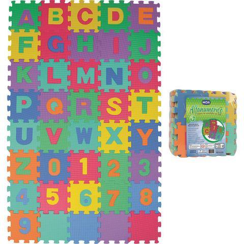 Imagem de Tapete de Atividades Alfanumérico EVA com 40 Peças Mor