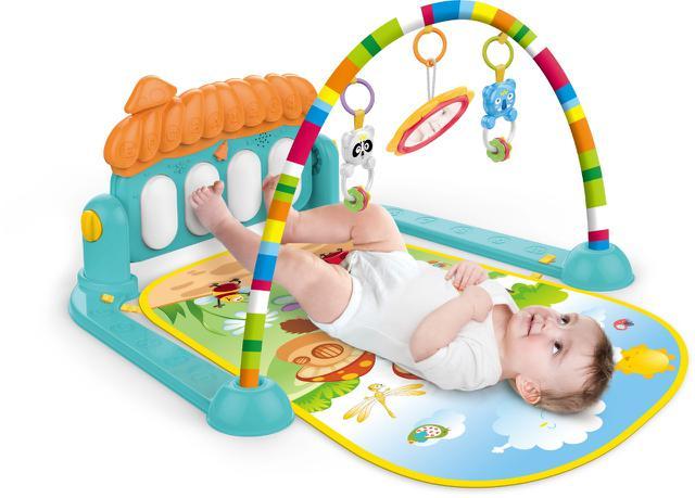 Imagem de Tapete de Atividades para Bebê Villa Piano Musical Verde