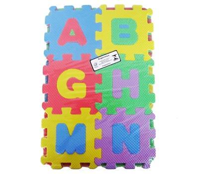 Imagem de Tapete de eva numeros/letras com 36 pecas 12x12cm