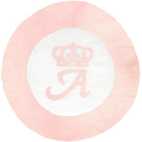 Imagem de Tapete Grande Emborrachado Coroa Inicial Personalizado Rosa